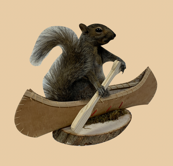 Canoeing Squirrel - Rusty Moose Marketplace