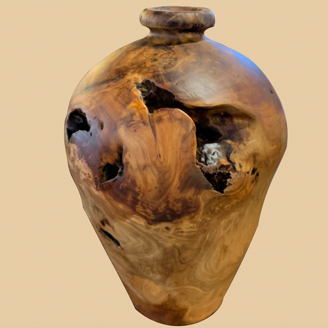 Carved Fir Vase (Small) - Rusty Moose Marketplace