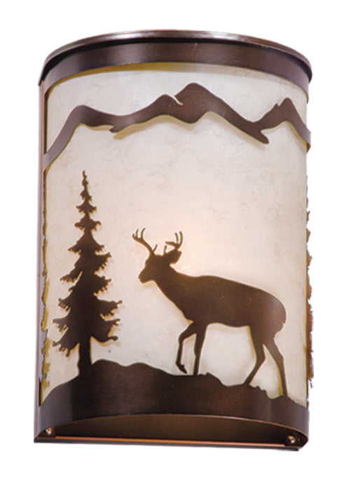 "Bryce 8"" Wall Sconce - Rusty Moose Marketplace"