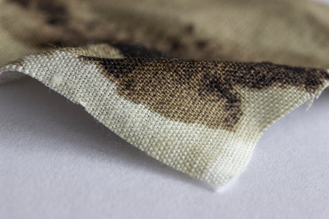Linen Print Fabric closeup