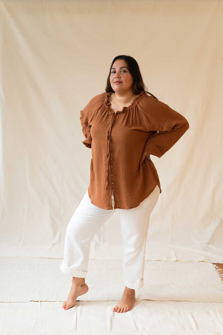 IVY BLOUSE - COPPER