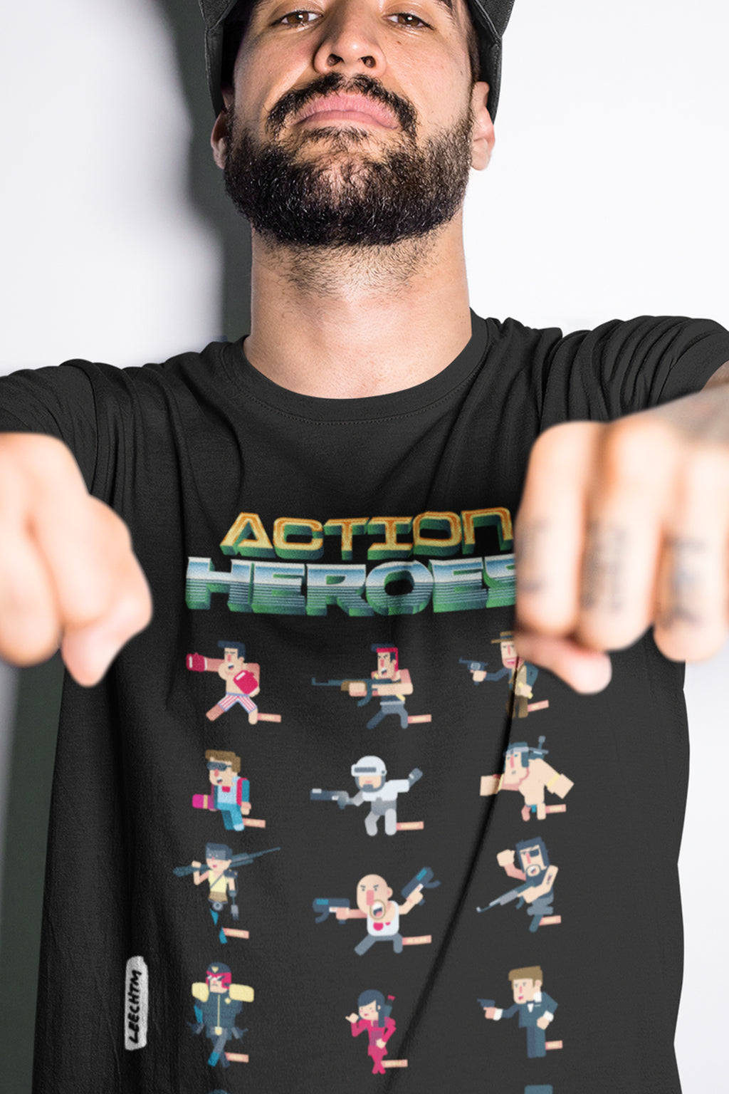 80s Action Movie Heroes Tshirt - LeechTM