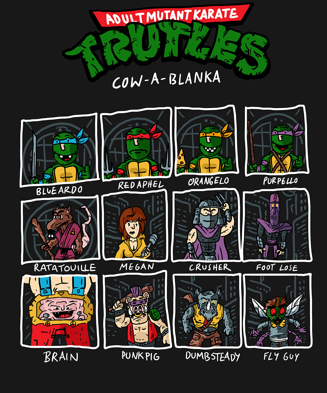 Super Mutant Adult Karate Turtles Shirt - LeechTM