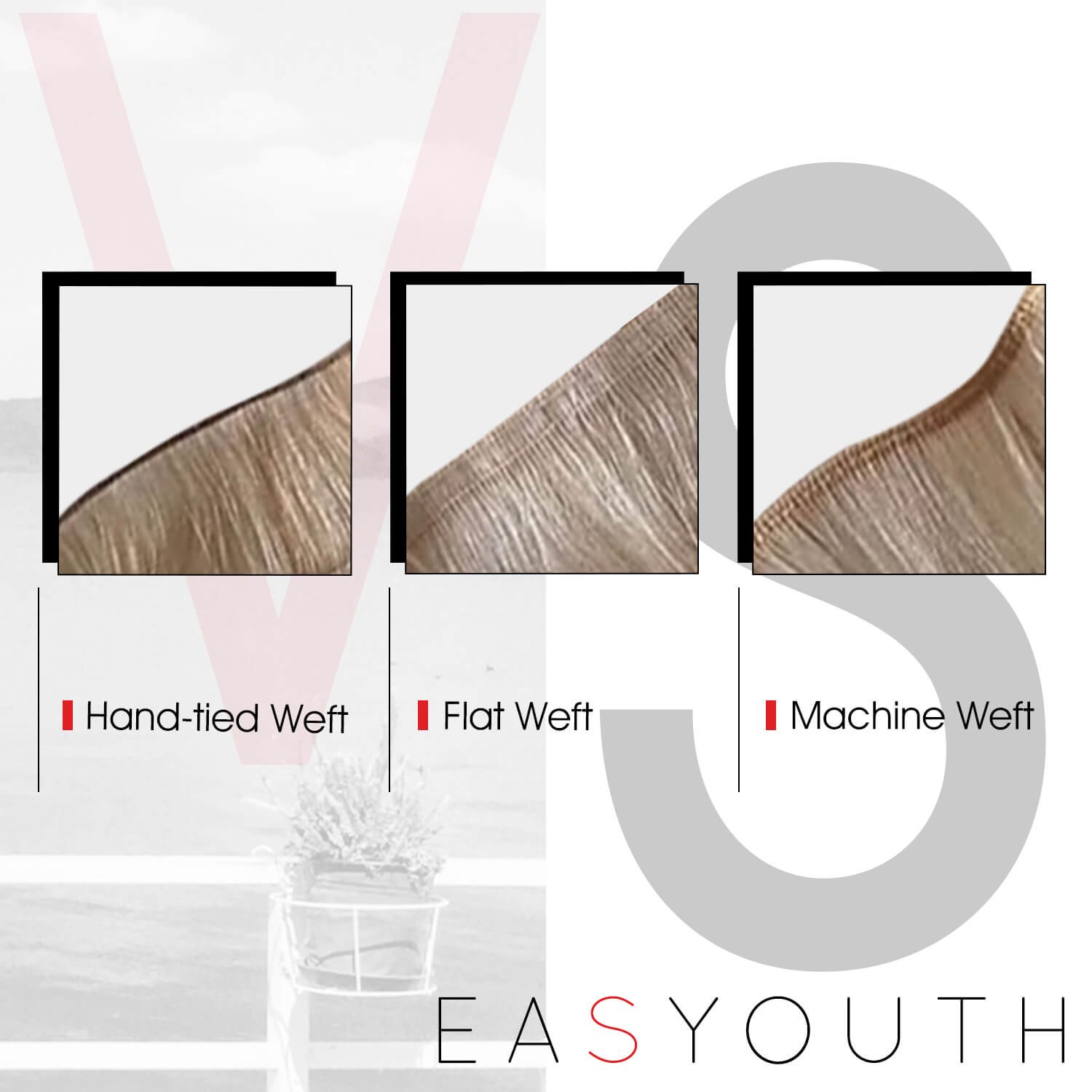 Flat weft vs handtied weft virgin hair vs machine weft