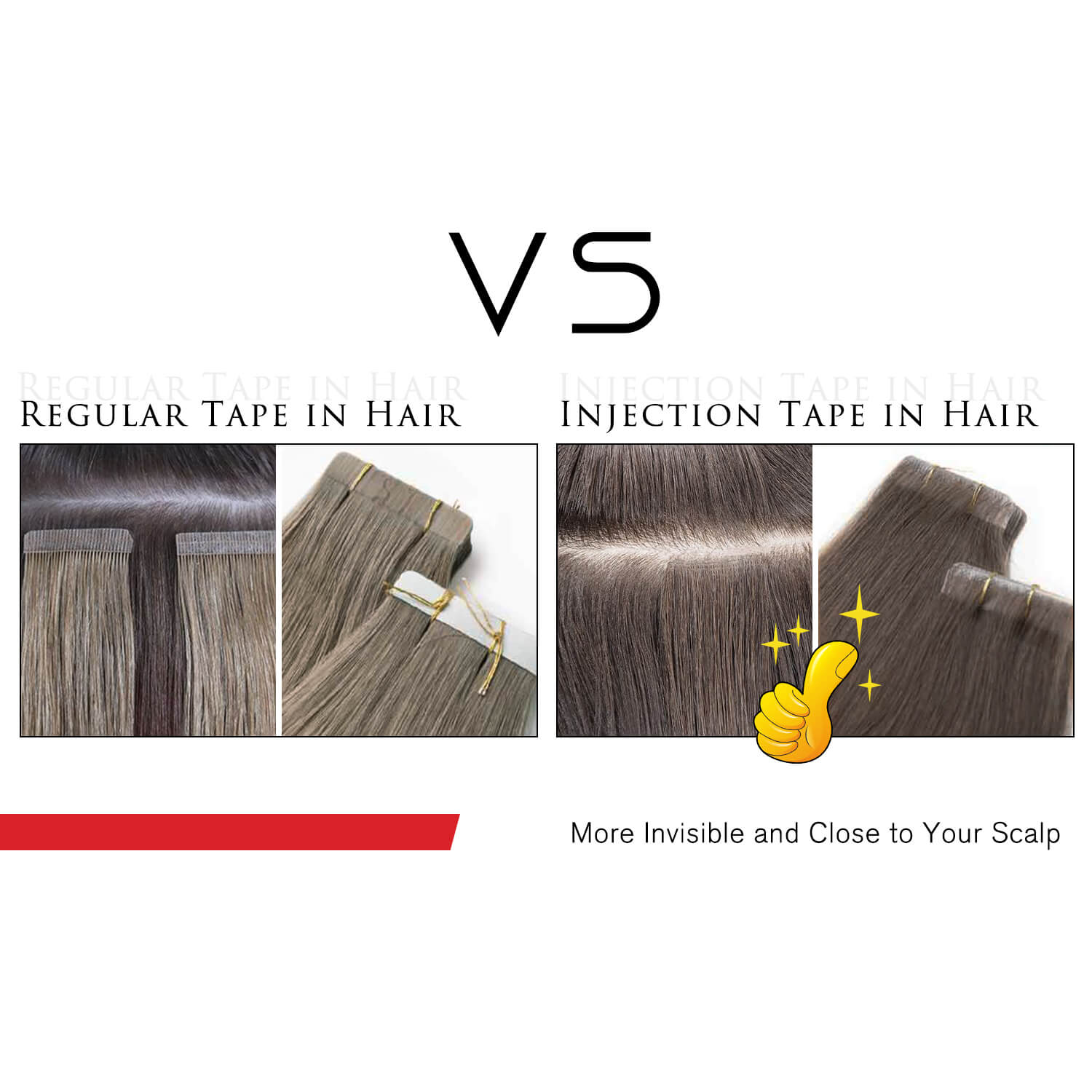 injection tape in hair extensions virgin hair