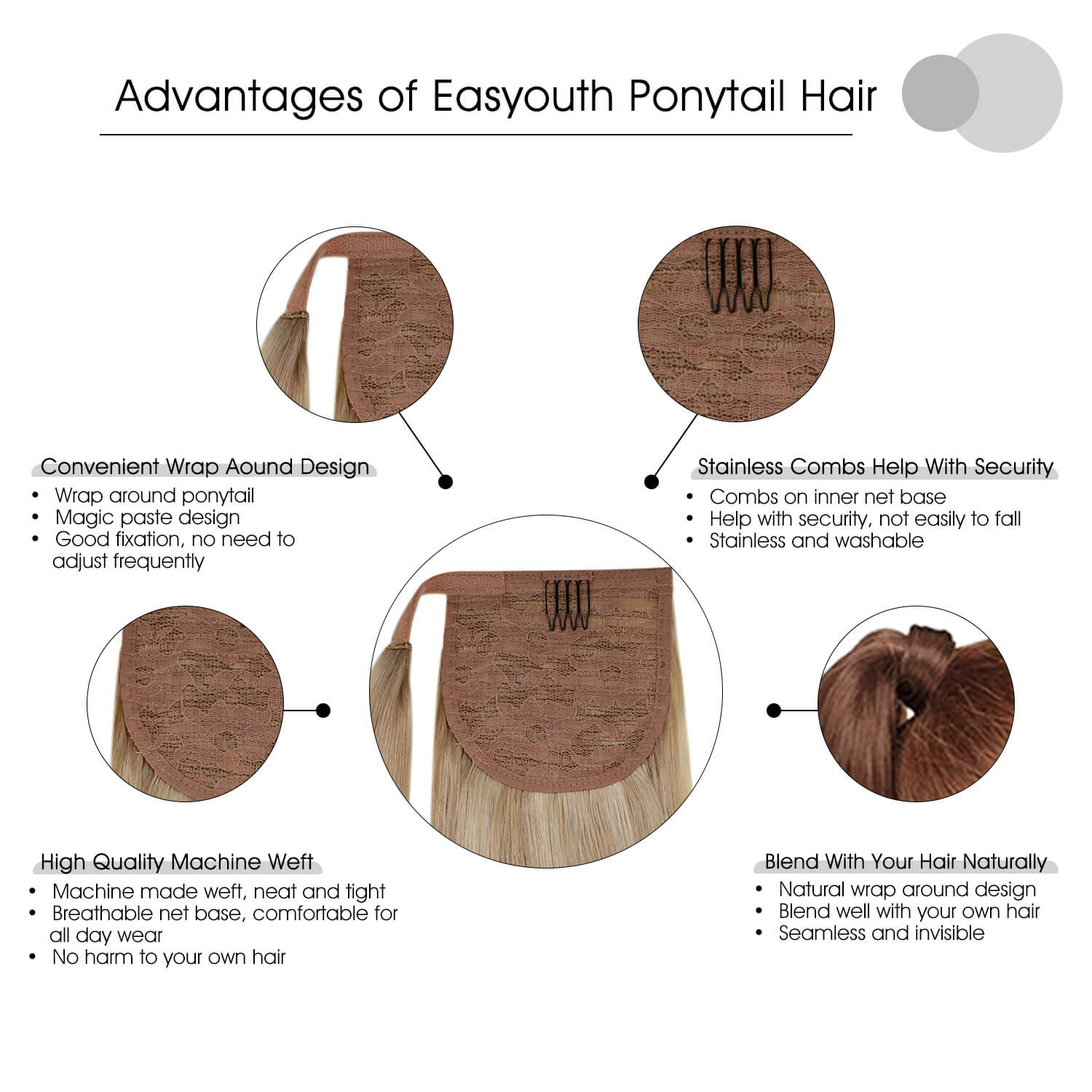 Advantages of Ponytail Hair Extensions-Easyouth