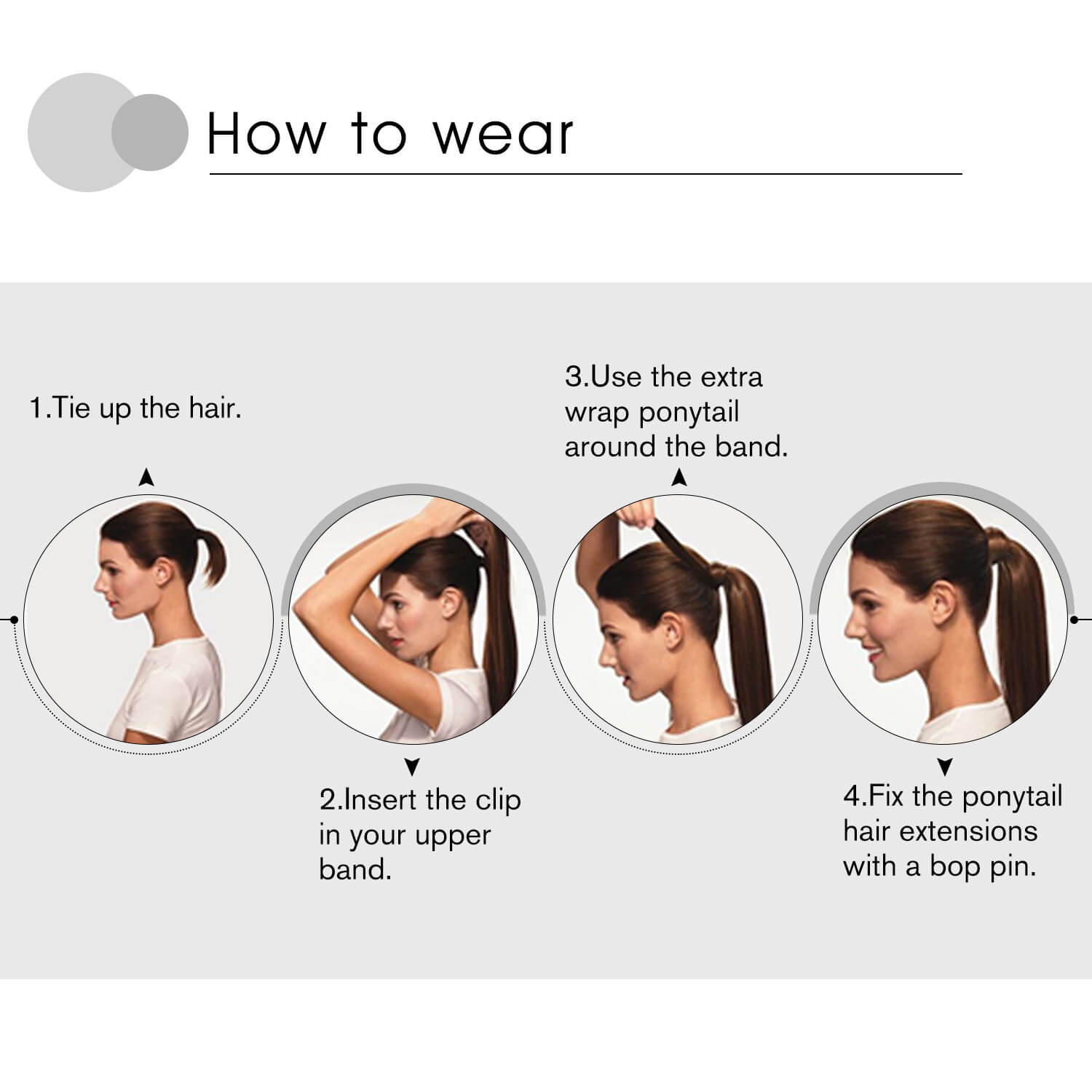 Method of applying ponytail hair extensions