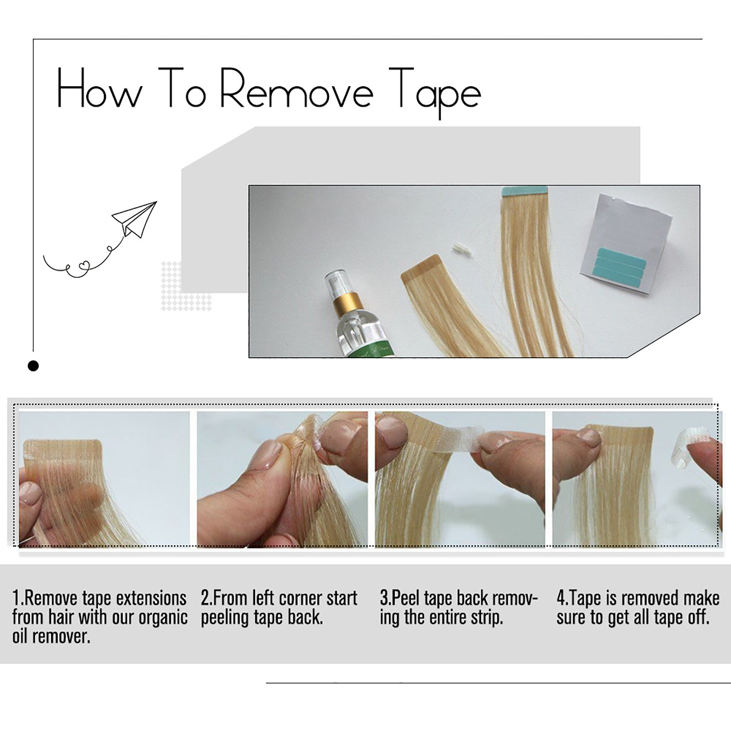 remove tapes