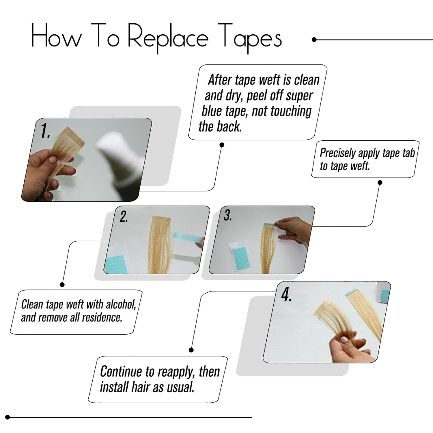 replace tapes