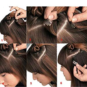 how to apply clip hair