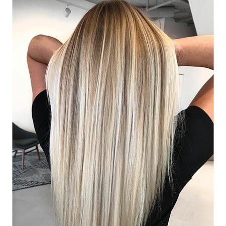 Topper 100% Remy Human Hair 12*6cm Ombre Straight Color #3/8/613,Easyouth