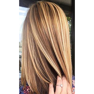 Topper 100% Remy Human Hair 12*6cm Ombre Straight Color #10/613
