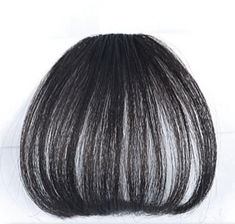 Clip In Air Bangs Air Fringe 100% Remy Human Hair Color #1B Off Black