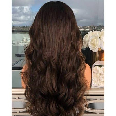 Topper 100% Remy Human Hair 12*6cm Ombre Straight Color #2