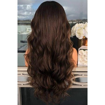 Topper 100% Remy Human Hair 6.5*2.25 inch Ombre Straight Color #4,Easyouth