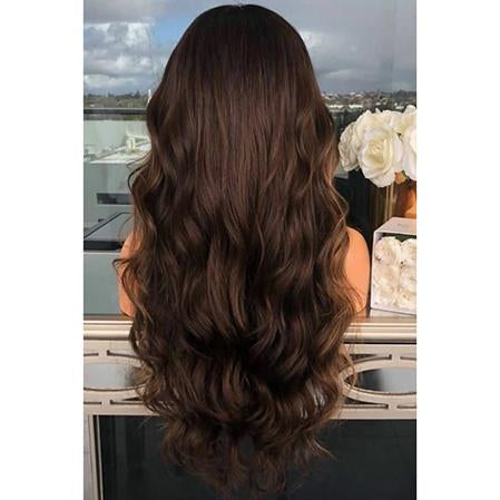 Topper 100% Remy Human Hair 6.5*2.25 inch Ombre Straight Color #4