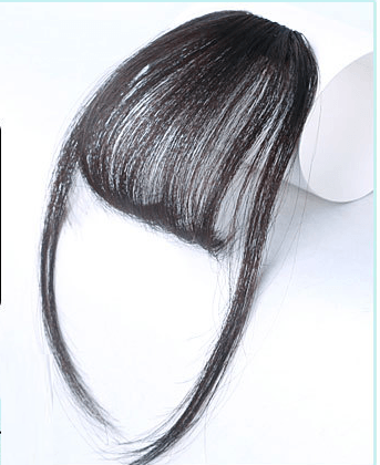 Clip In Air Bangs Air Fringe With Sideburns 100% Remy Human Hair Color #2 Dark Brown