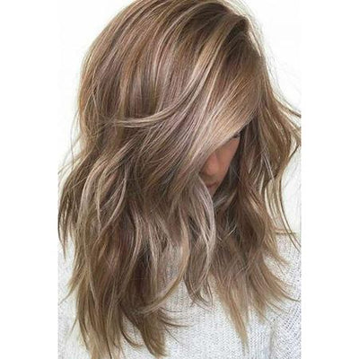 Topper 100% Remy Human Hair 12*6cm Ombre Straight Color #8/60