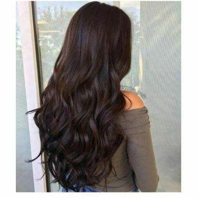 Topper 100% Remy Human Hair 6.5*2.25 inch Ombre Straight Color #2,Easyouth