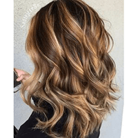 Topper 100% Remy Human Hair 1.5*5 inch Ombre Color #4/27,Easyouth