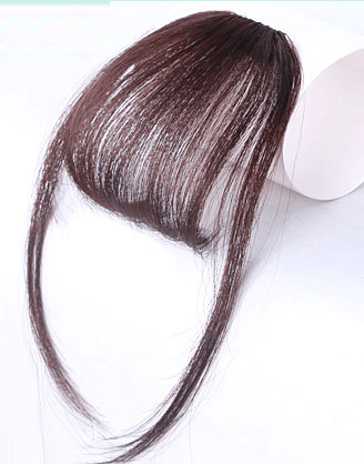 Clip In Air Bangs Air Fringe With Sideburns 100% Remy Human Hair Color #4 Medium Brown