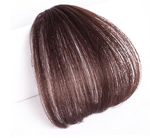 Clip In Air Bangs Air Fringe 100% Remy Human Hair Color #4 Medium Brown