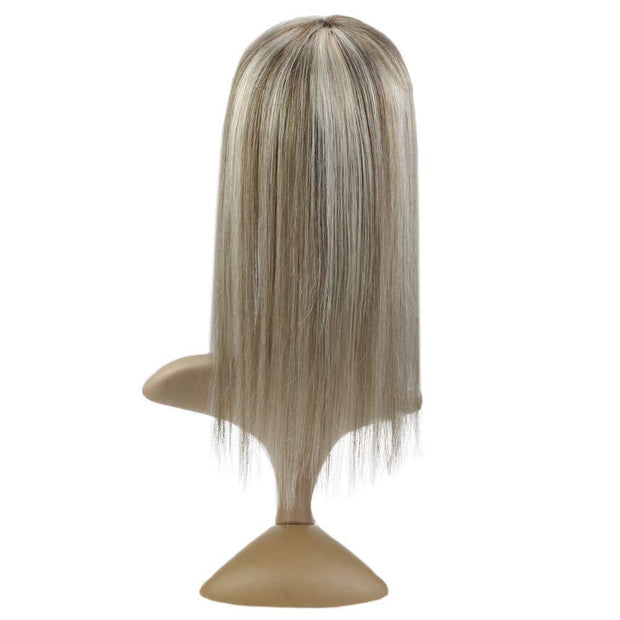 (new)Topper 100% Remy Human Hair 13*8cm Ombre Straight Color 8P60,Easyouth