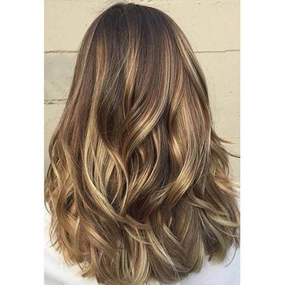 Topper 100% Remy Human Hair 12*6cm Ombre Straight Color #4/24/4,Easyouth