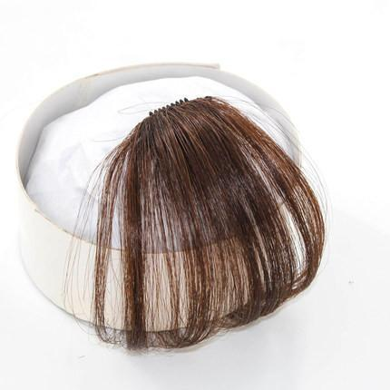Clip In Air Bangs Air Fringe 100% Remy Human Hair Color #6 Brown