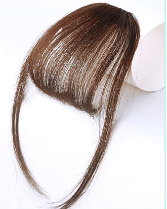 Clip In Air Bangs Air Fringe With Sideburns 100% Remy Human Hair Color #6 Brown
