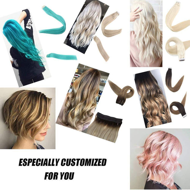 remy human hair customized order