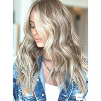 Topper 100% Remy Human Hair 1.5*5 inch Ombre Color #8/60,Easyouth