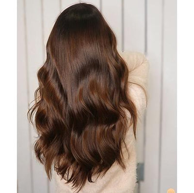 Topper 100% Remy Human Hair 12*6cm Ombre Straight Color #4,Easyouth