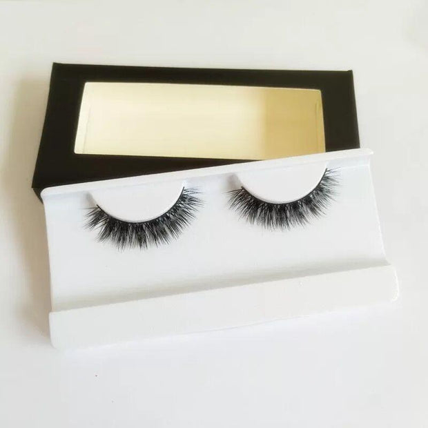Handmade Luxe Mink Eyelashes 1 Pair #08,Easyouth