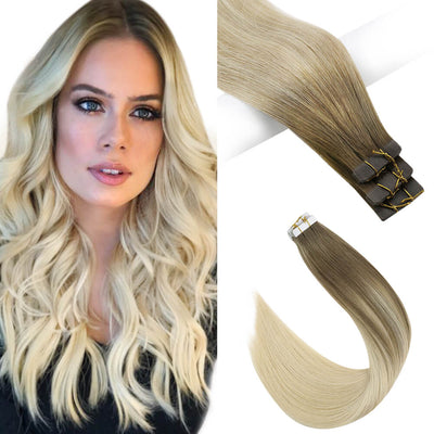 ash brown virgin tape hair