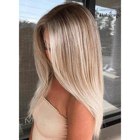 Topper 100% Remy Human Hair 6.5*2.25 inch Ombre Straight Color #3/8/22