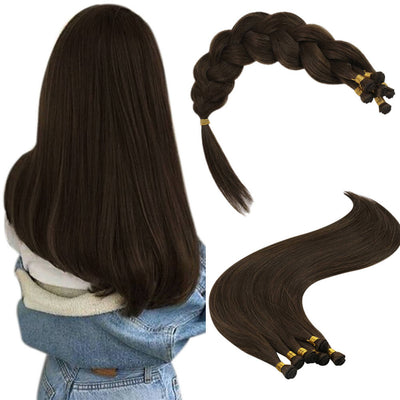 chocolate brown handmade weft virgin hair