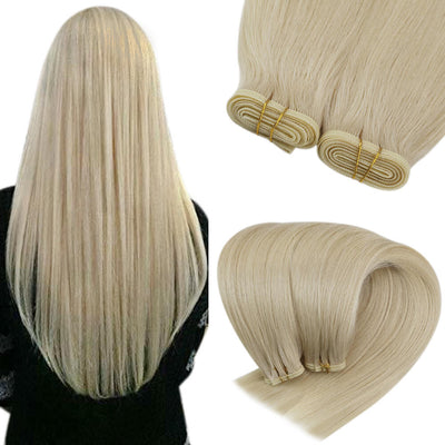 flat weft hair extensions virgin hair 60