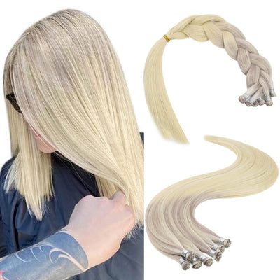 hand-tied hair weft nodic high quality hair 18 22 60