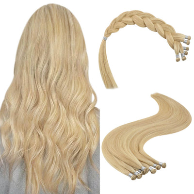 handmade weft hair extensions virgin hair 16p22