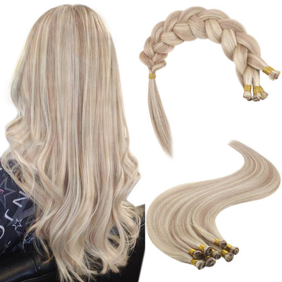 handtied weft bundles blonde highlight 18p613