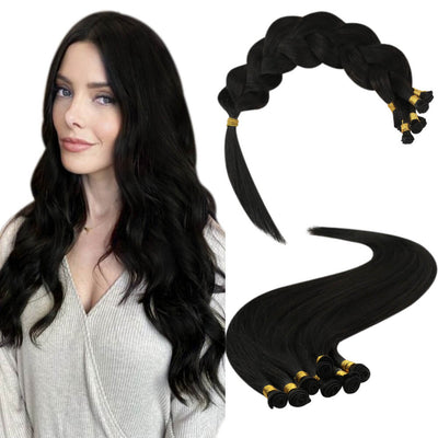 handtied weft high quality virgin hair off black 1b