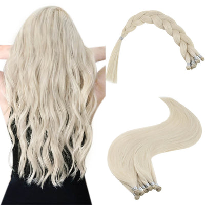 platinum blonde hair extensions handmade weft