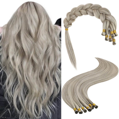 platinum blonde highlight handtied hair weft P19a/60
