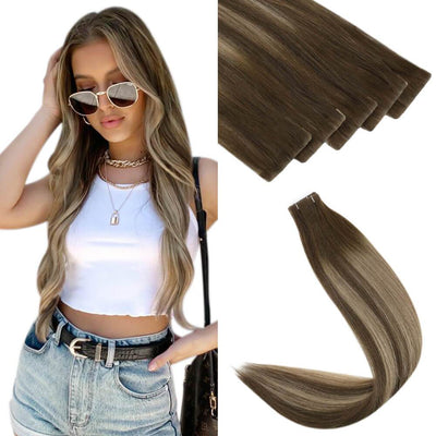 virgin+ seamless tape in hair extensions invisible hair