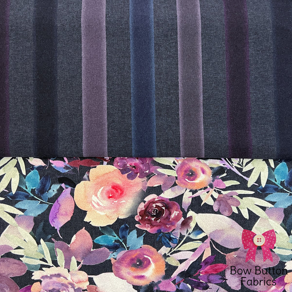 Ernst Textil Cotton Spandex Jersey - Skogsvannerna Wildland Animals Green