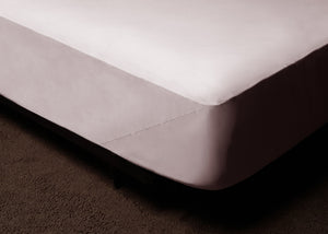 Light Pink Fitted Bed Sheet Set