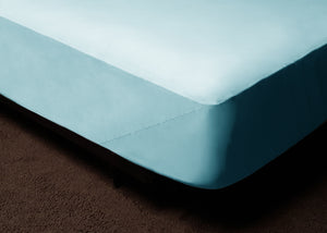 Light Blue Fitted Bed Sheet Set