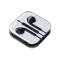 ABC Tech Earphones with mic - Wired - Black - In Ear