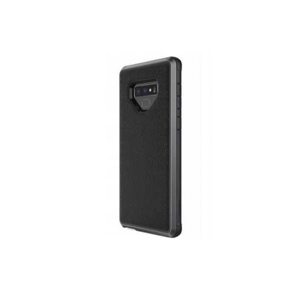 Defense Lux Back Case for Samsung Note 9 - Leather - Black